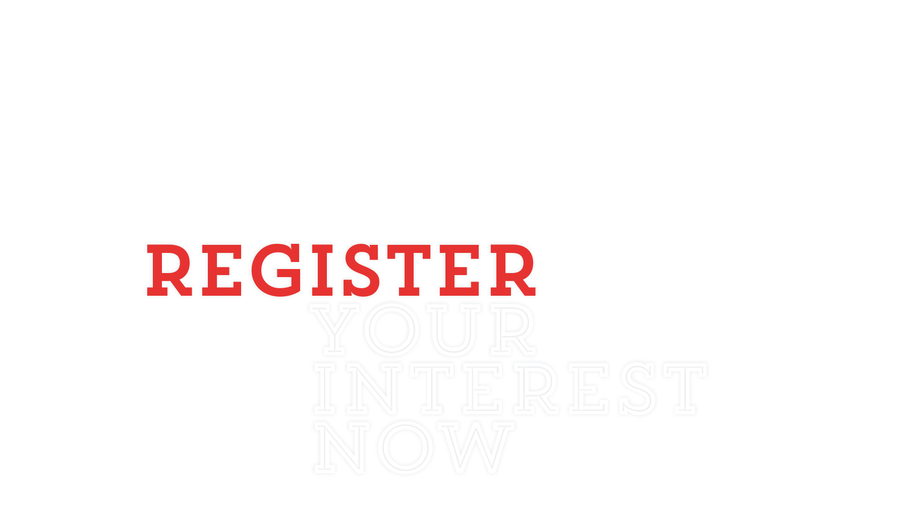 Thorton, register your interest